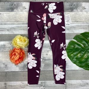 Athleta floral elation 7/8 tights leggings medium